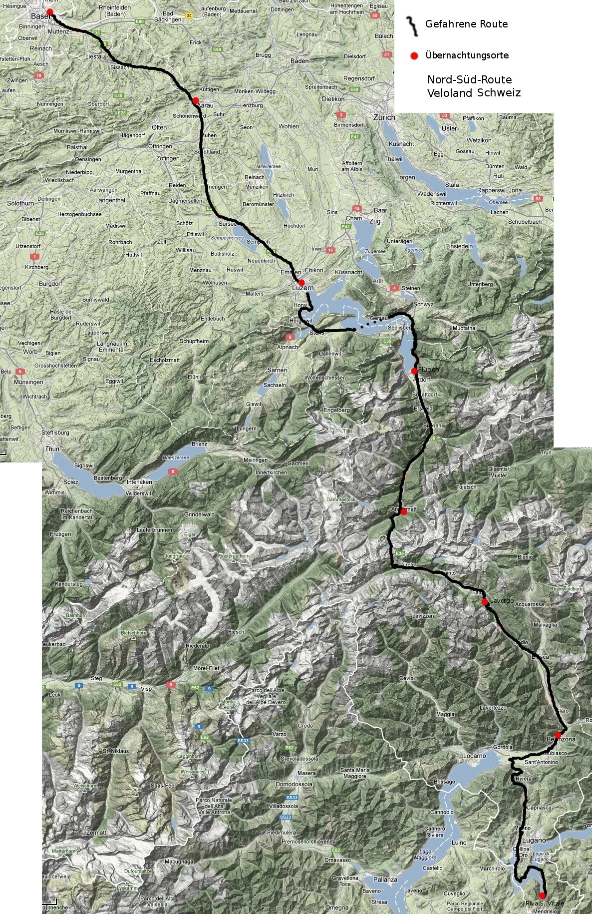 schweiz nord s d route alpen berquerung sommer 2012. Black Bedroom Furniture Sets. Home Design Ideas